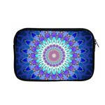 Power Flower Mandala   Blue Cyan Violet Apple MacBook Pro 13  Zipper Case Front