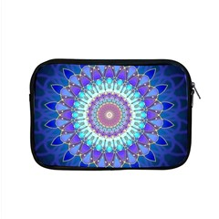 Power Flower Mandala   Blue Cyan Violet Apple MacBook Pro 15  Zipper Case