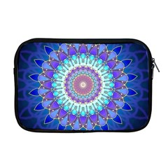 Power Flower Mandala   Blue Cyan Violet Apple Macbook Pro 17  Zipper Case