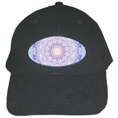 India Mehndi Style Mandala   Cyan Lilac Black Cap
