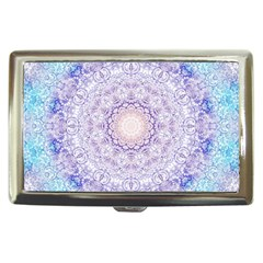 India Mehndi Style Mandala   Cyan Lilac Cigarette Money Cases