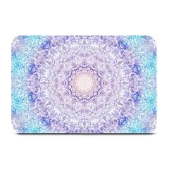 India Mehndi Style Mandala   Cyan Lilac Plate Mats