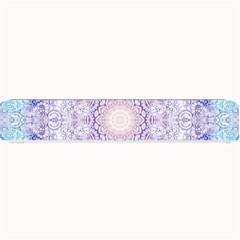 India Mehndi Style Mandala   Cyan Lilac Small Bar Mats