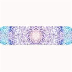 India Mehndi Style Mandala   Cyan Lilac Large Bar Mats