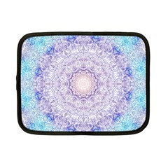 India Mehndi Style Mandala   Cyan Lilac Netbook Case (Small)