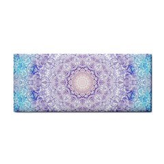 India Mehndi Style Mandala   Cyan Lilac Cosmetic Storage Cases