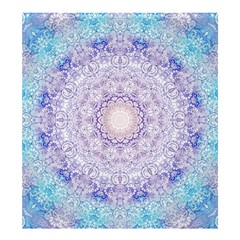 India Mehndi Style Mandala   Cyan Lilac Shower Curtain 66  x 72  (Large)