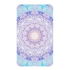 India Mehndi Style Mandala   Cyan Lilac Memory Card Reader