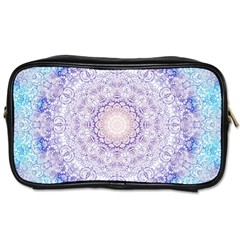 India Mehndi Style Mandala   Cyan Lilac Toiletries Bags