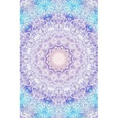 India Mehndi Style Mandala   Cyan Lilac 5.5  x 8.5  Notebooks