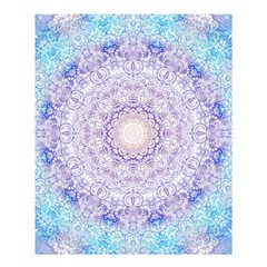 India Mehndi Style Mandala   Cyan Lilac Shower Curtain 60  x 72  (Medium)