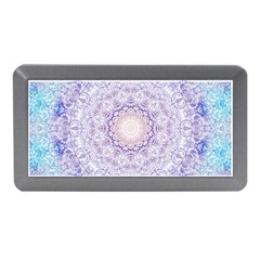 India Mehndi Style Mandala   Cyan Lilac Memory Card Reader (Mini)