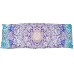 India Mehndi Style Mandala   Cyan Lilac Body Pillow Case (Dakimakura)