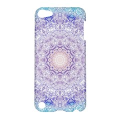 India Mehndi Style Mandala   Cyan Lilac Apple iPod Touch 5 Hardshell Case