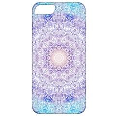 India Mehndi Style Mandala   Cyan Lilac Apple iPhone 5 Classic Hardshell Case