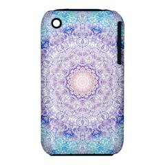 India Mehndi Style Mandala   Cyan Lilac iPhone 3S/3GS
