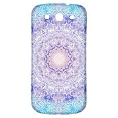 India Mehndi Style Mandala   Cyan Lilac Samsung Galaxy S3 S III Classic Hardshell Back Case