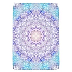 India Mehndi Style Mandala   Cyan Lilac Flap Covers (L)
