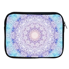 India Mehndi Style Mandala   Cyan Lilac Apple iPad 2/3/4 Zipper Cases