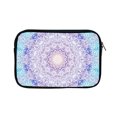India Mehndi Style Mandala   Cyan Lilac Apple iPad Mini Zipper Cases