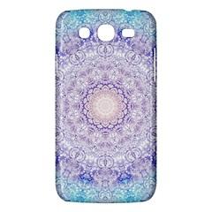 India Mehndi Style Mandala   Cyan Lilac Samsung Galaxy Mega 5.8 I9152 Hardshell Case