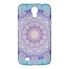 India Mehndi Style Mandala   Cyan Lilac Samsung Galaxy Mega 6.3  I9200 Hardshell Case