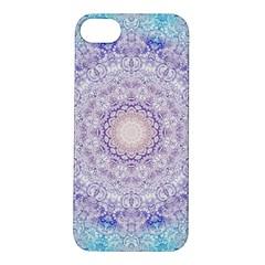 India Mehndi Style Mandala   Cyan Lilac Apple iPhone 5S/ SE Hardshell Case