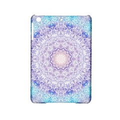 India Mehndi Style Mandala   Cyan Lilac iPad Mini 2 Hardshell Cases