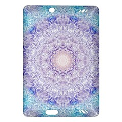 India Mehndi Style Mandala   Cyan Lilac Amazon Kindle Fire HD (2013) Hardshell Case