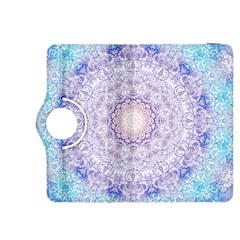 India Mehndi Style Mandala   Cyan Lilac Kindle Fire HDX 8.9  Flip 360 Case