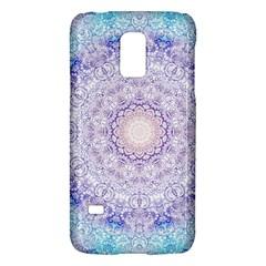 India Mehndi Style Mandala   Cyan Lilac Galaxy S5 Mini