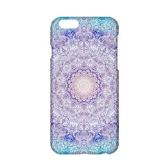 India Mehndi Style Mandala   Cyan Lilac Apple iPhone 6/6S Hardshell Case