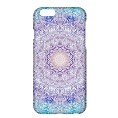 India Mehndi Style Mandala   Cyan Lilac Apple iPhone 6 Plus/6S Plus Hardshell Case
