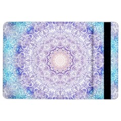 India Mehndi Style Mandala   Cyan Lilac iPad Air 2 Flip