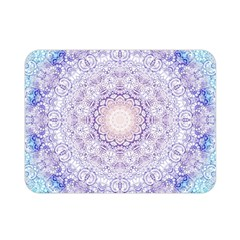 India Mehndi Style Mandala   Cyan Lilac Double Sided Flano Blanket (Mini)