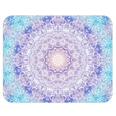 India Mehndi Style Mandala   Cyan Lilac Double Sided Flano Blanket (Medium)