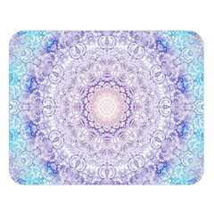 India Mehndi Style Mandala   Cyan Lilac Double Sided Flano Blanket (Large)