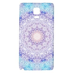 India Mehndi Style Mandala   Cyan Lilac Galaxy Note 4 Back Case