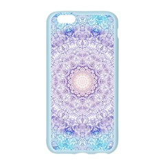 India Mehndi Style Mandala   Cyan Lilac Apple Seamless iPhone 6/6S Case (Color)