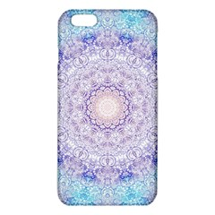 India Mehndi Style Mandala   Cyan Lilac iPhone 6 Plus/6S Plus TPU Case