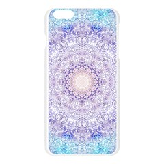 India Mehndi Style Mandala   Cyan Lilac Apple Seamless iPhone 6 Plus/6S Plus Case (Transparent)