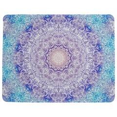 India Mehndi Style Mandala   Cyan Lilac Jigsaw Puzzle Photo Stand (Rectangular)