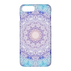 India Mehndi Style Mandala   Cyan Lilac Apple Iphone 7 Plus Hardshell Case