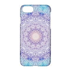 India Mehndi Style Mandala   Cyan Lilac Apple Iphone 7 Hardshell Case
