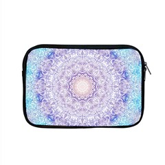 India Mehndi Style Mandala   Cyan Lilac Apple Macbook Pro 15  Zipper Case