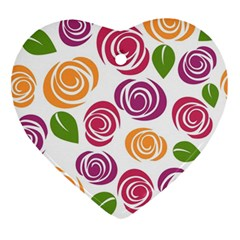 Colorful Seamless Floral Flowers Pattern Wallpaper Background Ornament (heart)