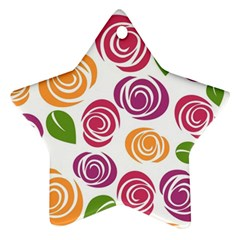 Colorful Seamless Floral Flowers Pattern Wallpaper Background Ornament (star)