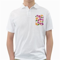 Colorful Seamless Floral Flowers Pattern Wallpaper Background Golf Shirts