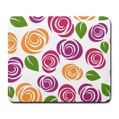 Colorful Seamless Floral Flowers Pattern Wallpaper Background Large Mousepads