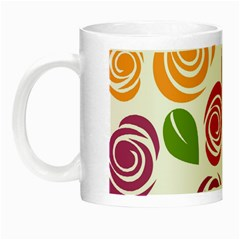Colorful Seamless Floral Flowers Pattern Wallpaper Background Night Luminous Mugs